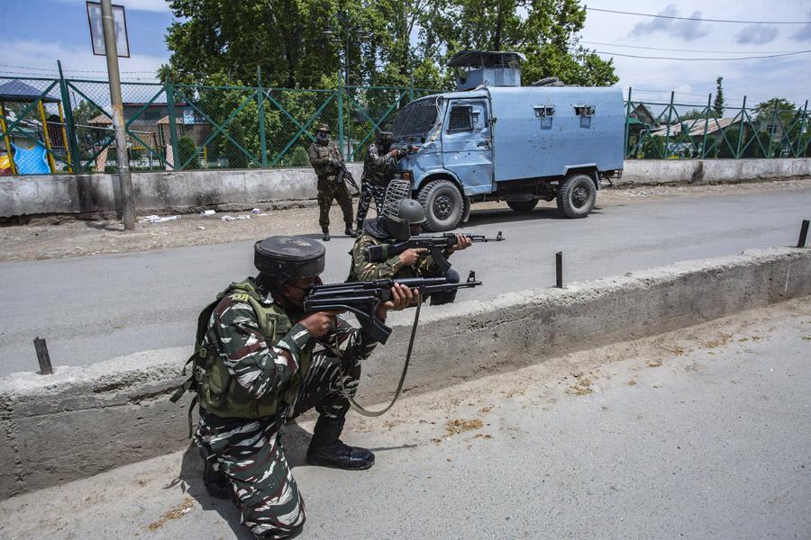 South Kashmir: Encounter Breaks Out In Pulwama Village