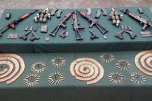 Huge Cache Of Arms, Ammunition Recovered Along LoC In Baramulla: Army