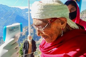 Centenarian Treks Steep Mountain Path To Vote In Doda