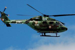 Army Chopper Makes Emergency Landing In Ramban