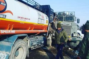 Three CRPF Troopers Among 4 Injured In Qazigund Road Accident