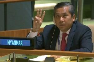 Myanmar's UN Envoy Urges No-Fly Zone, Sanctions Against Junta