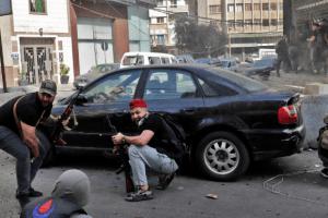 Firing On Hezbollah Demonstration in Beirut Rocks Lebanon