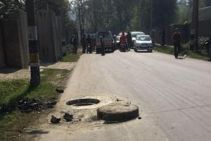 Accidents on Ishber Road After LAWDA Leaves Repaired Manholes Open