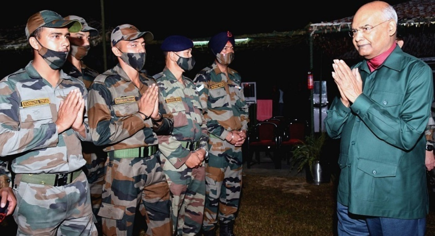 President Interacts With Troops In J&K