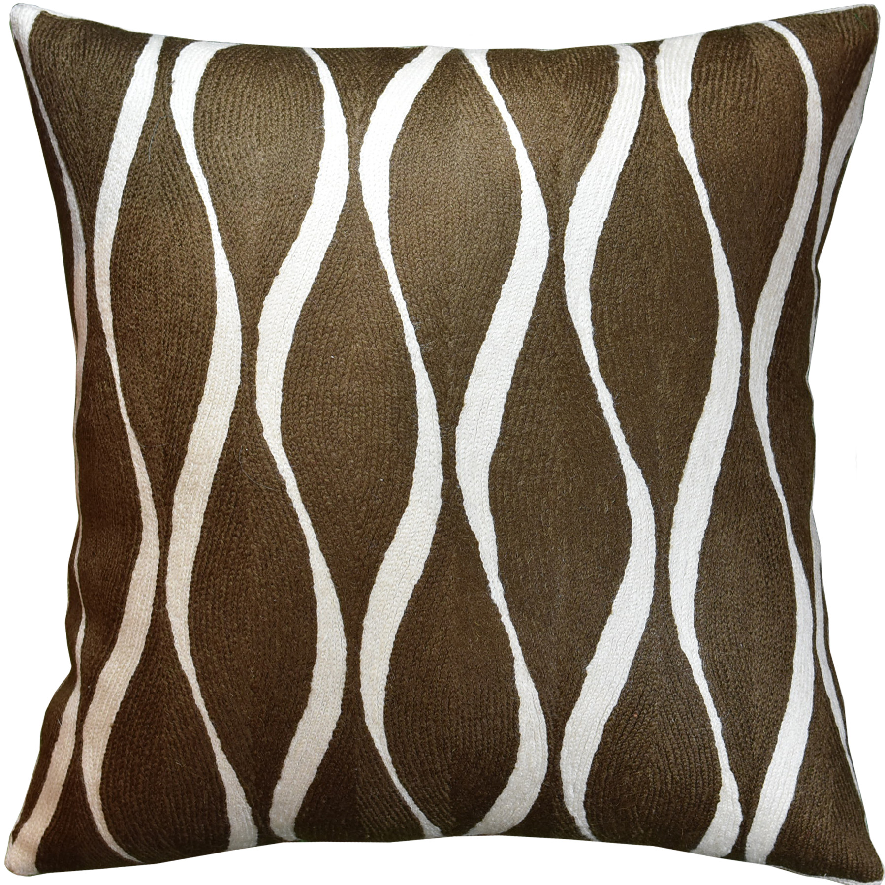 contemporary waves brown decorative