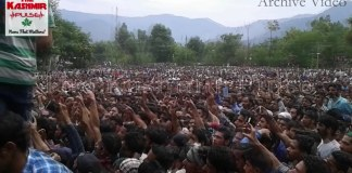 Thousands attend funeral prayers of rebel commander Burhan Wani in Tral