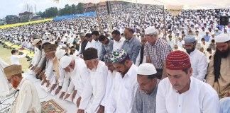 People offer Eid Prayers across Kashmir
