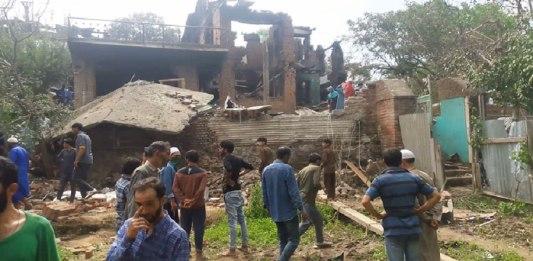 Gunfights in Kashmir leave a trail of destruction!