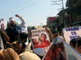 Protest in Pulwama against killings of Rohingya Muslims