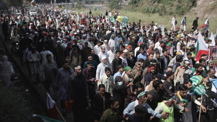 LoC March: Protestors stopped from moving towards LoC in Pak