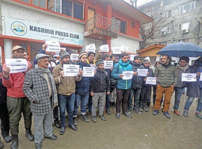 Kashmir journalists call internet shutdown 'indirect ban' on media