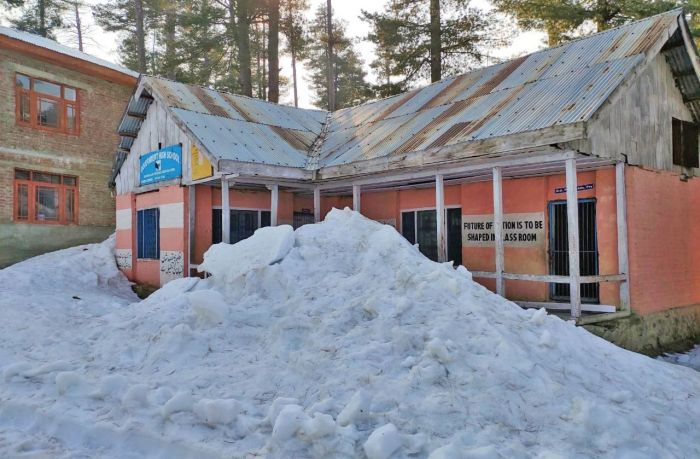 Snow has not been cleared from several school premises in Shopian