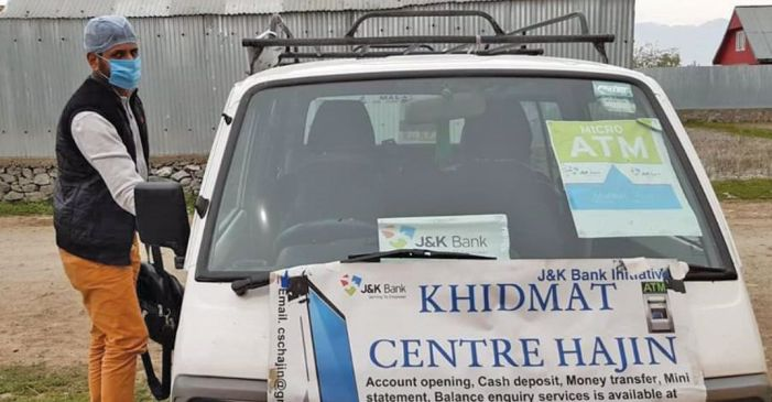 With 'micro ATM' in his van, Hajin youth goes around delivering cash at the doorstep