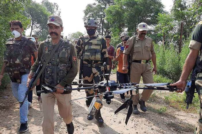BSF shoots down drone armed with automatic rifle, grenades in Jammu