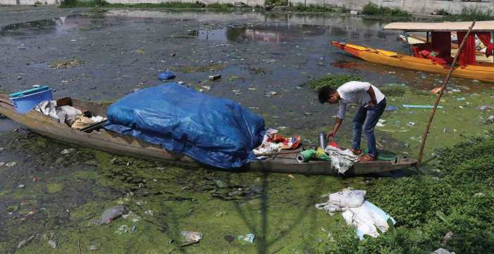 Conservation work on Brari Nambal 'lagoon' began in March, stopped in March