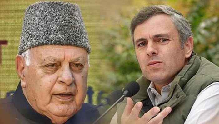 Farooq, Omar Abdullah greet people on Eid