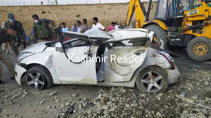 23-year-old Reasi youth among two dead in Pampore road accident