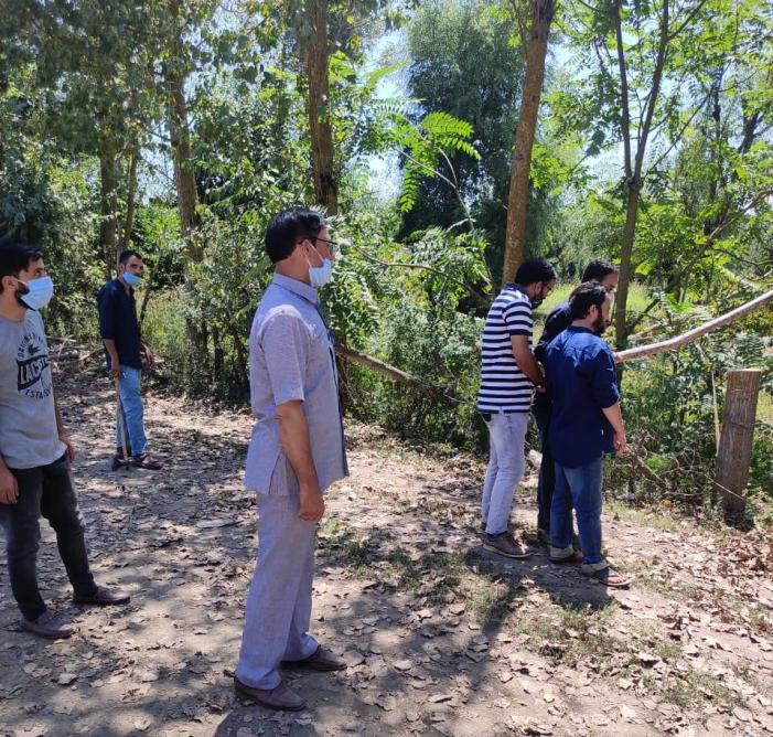 10 kanals Kahcharai land retrieved during anti-encroachment drive in north Kashmir's Hajin