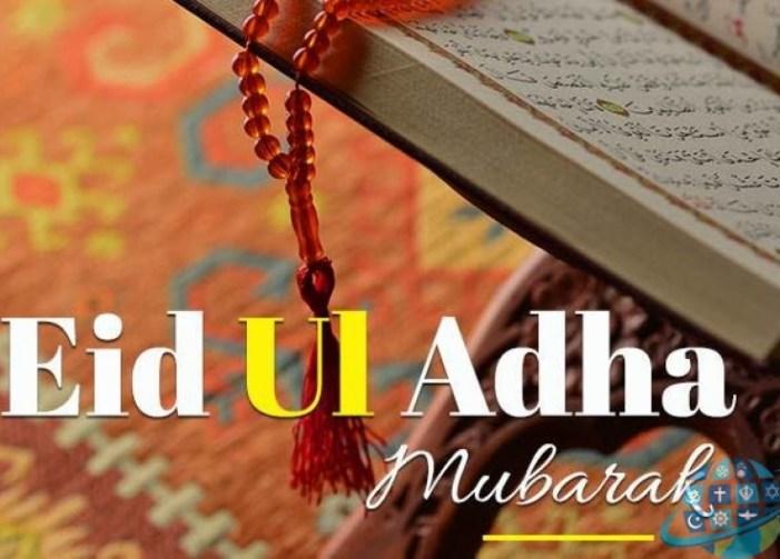 Advisors greet people on Eid