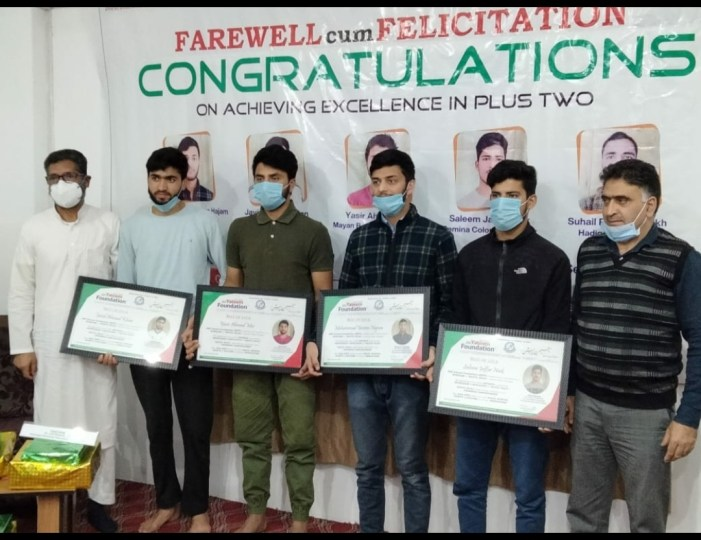 J&K Yateem Foundation felicitates class 12 passouts