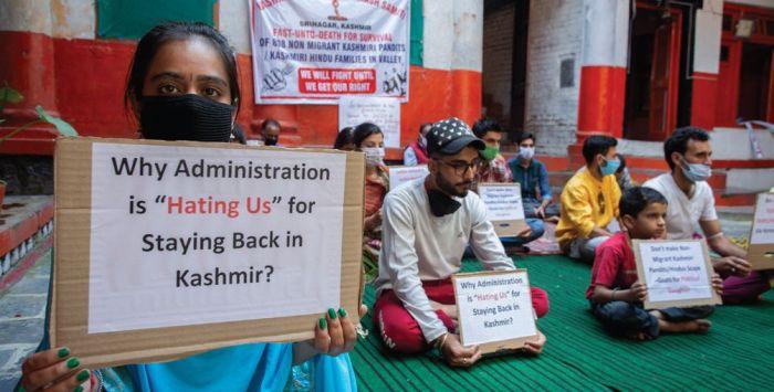 Pandits living in Kashmir start hunger strike for govt jobs