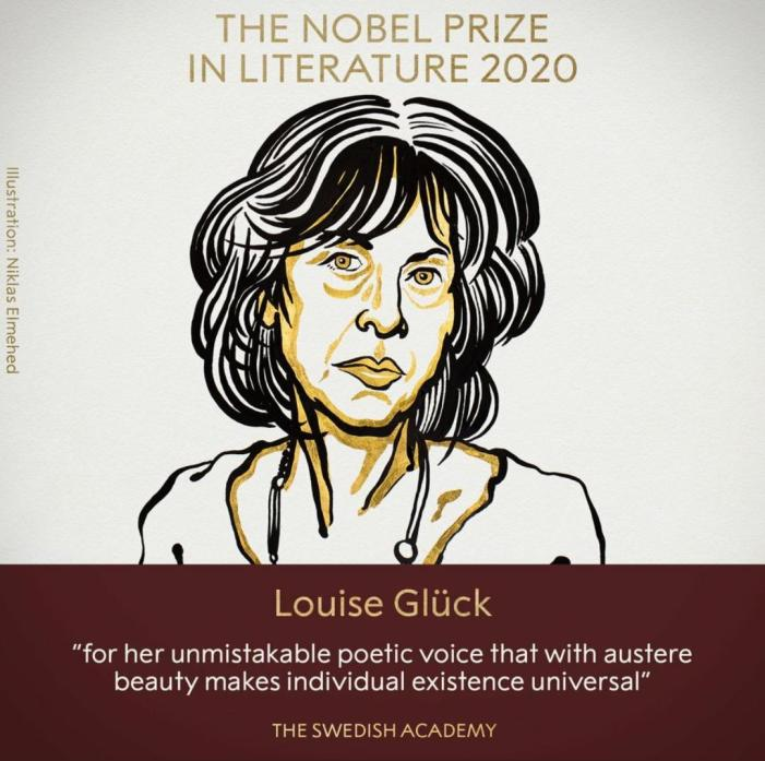 American Louise Glück wins Nobel Prize 2020 in Literature for her 'unmistakable poetic voice'