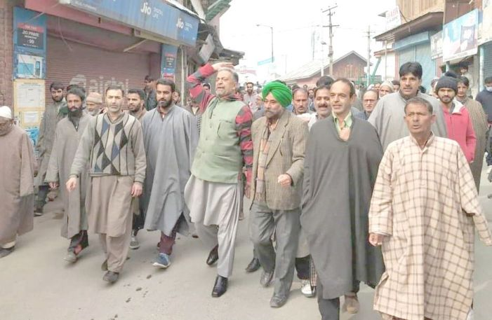 Tral residents protest against PDD for hiking power bills