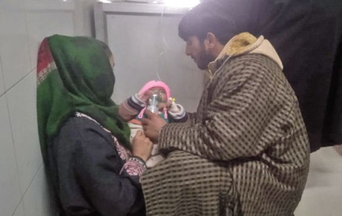 Children ailing from cold treated in cold corridors of MCH Anantnag