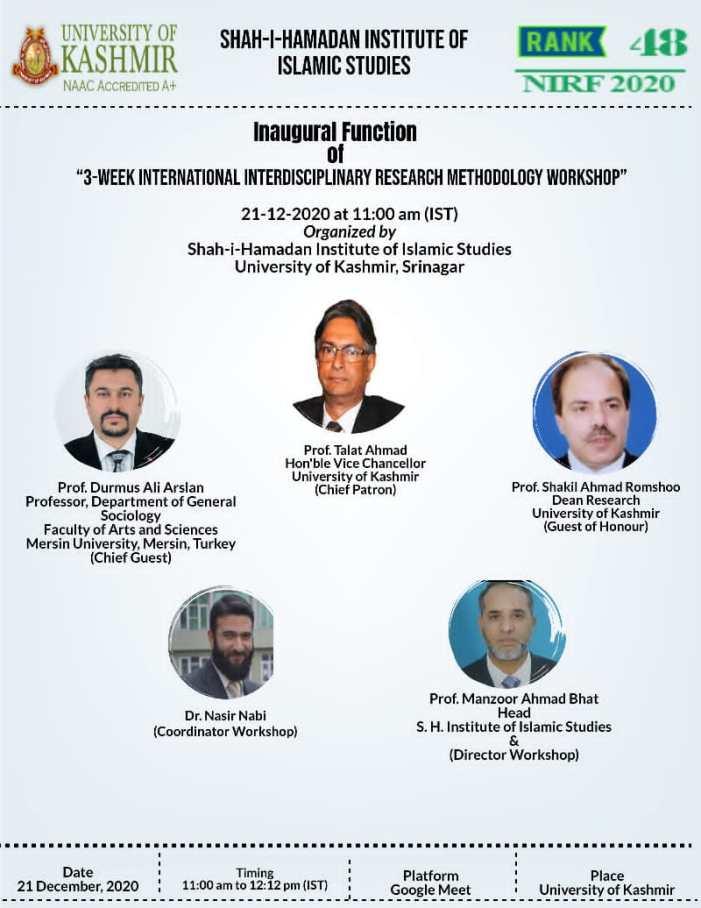 3-week international workshop on Interdisciplinary Research begins at KU