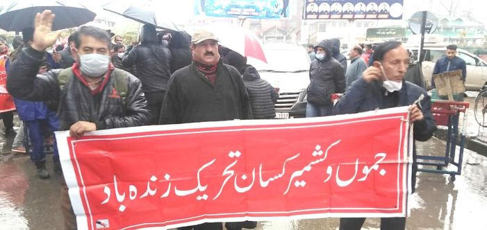 Kashmir Kissan, Sikh Forum hold rally in support of protesting farmers in Srinagar
