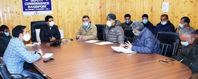 Progress on pending works, shifting of DH B'pora held by DC