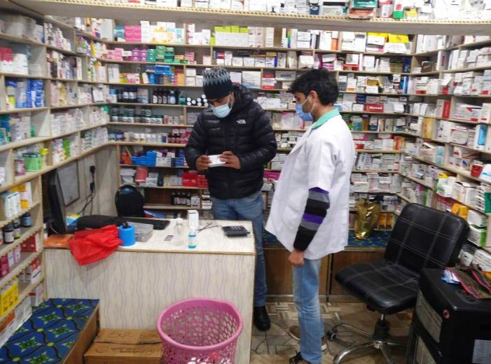 Drug Controller department Pulwama shuts 2 medical stores in Pampore