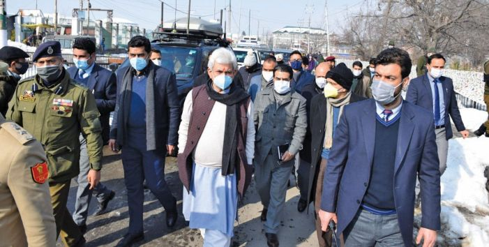 LG reviews restoration of essential services in Kashmir