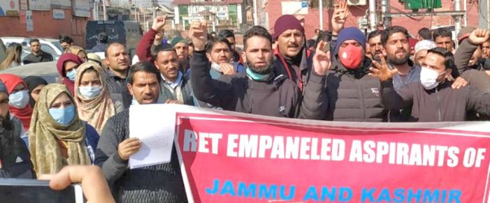 Empanelled ReT aspirants hold protest, demands issuance of appointment orders