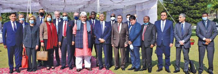 LG interacts with envoys, says 'years of suffering ended on August 5'