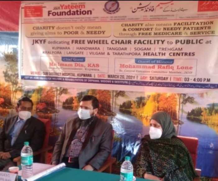 JKYF dedicates Free Wheel Chair Facility to public at 09 blocks in frontier Kupwara district
