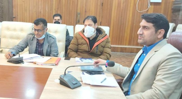 DC Srinagar takes stock of Srinagar Sewerage project
