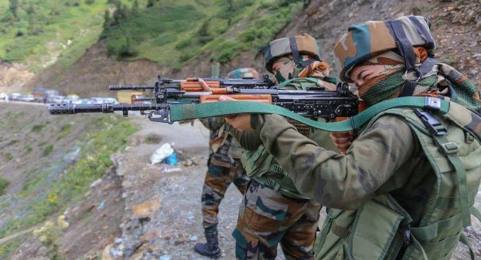 Assam Riflewomen deployed in Kashmir