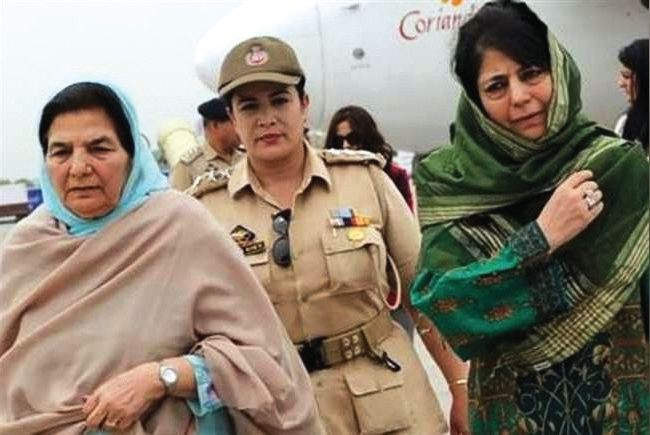 Mehbooba's mother appears before ED in money laundering case