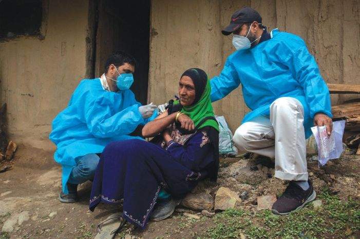 Kashmir to be fully vaccinated by December: Officer in charge