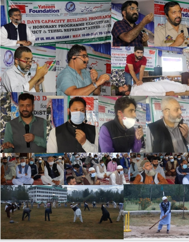 JKYF's 3 Day Capacity Building Programme for Volunteers concludes at BAITUL HILAL Kulgam
