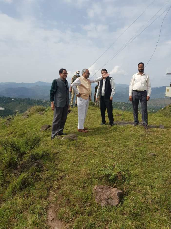 VC BGSBU inspects proposed construction sites