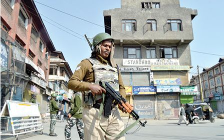 Kashmir shuts over JRL call against militant, civilian killings by government forces