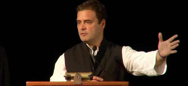 Intolerance, anger reign supreme in India: Rahul in Dubai