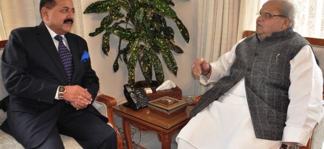 Jitendra Singh, MoS PMO meets Governor