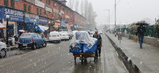 Valley cut off due to heavy snowfall