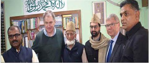 Kashmir situation sensitive, fragile, play positive role: JRL to former Norwegian PM
