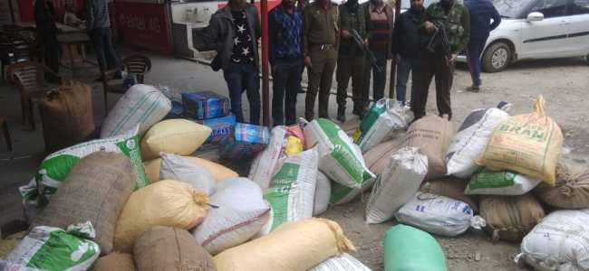 Over 30 Qtls of 'fukki' seized in Bijbehara Anantnag, case registered .