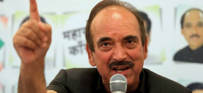 Only threat nation is facing is from BJP: Azad on MHA order